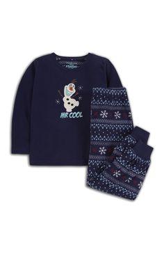 Donkerblauwe pyjama Frozen met Olaf