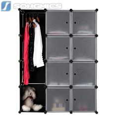 Cool Kleiderschrank Standregal Garderobeschrank Steckregalsystem mit Muster LPCB