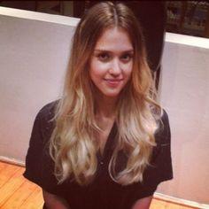 Jessica Alba Ombre Hair