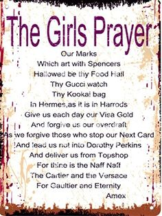 THE GIRLS PRAYER FUNNY METAL SIGN RETRO VINTAGE STYLE LARGE 12X16in 30x40cm TRACY'S SIGNS http://www.amazon.co.uk/dp/B00OYD4KRS/ref=cm_sw_r_pi_dp_XhT.vb1NG3T2T