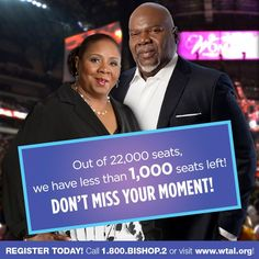 #WTAL DON'T MISS YOUR MOMENT! Out of 22,000 seats we have less than 1k left! Join the Movement http://WTAL.org pic.twitter.com/uxQLRCWuAr
