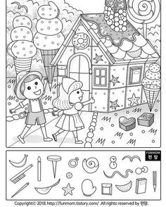 Back To School Number Order Cut & Paste Printable Preschool Worksheets, Worksheets For Kids, English Activities, Preschool Activities, Hidden Pictures Printables, Emotions Preschool, Hidden Picture Puzzles, Hansel Y Gretel, Hidden Objects