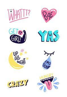 Marylou Faure – Freelance Illustrator & Art Director in London Badge Design, Logo Design, Design Design, Posca Marker, Design Poster, Cool Stickers, Freelance Illustrator, Cute Illustration, Art Director