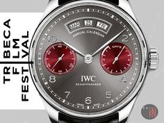 """""""Watching Movies Thanks To Watches!"""" https://tribecafilm.com/festival/ #IWC Portugieser Annual Calendar 2016 Tribeca Film Festival Ref#: 503506 * EMAIL FOR INQUIRIES!  http://blog.elementintime.com/index.php/iwc-at-tribeca-film-festival-2016/#more-8916"""