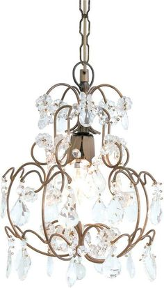 A glass crystal chandelier