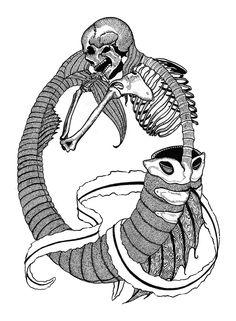 Logo Design by Vermont Artist Briony Morrow-Cribbs — Briony Morrow-Cribbs - Etching, Prints & Illustrations Underwater Music, Mermaid Skeleton, Mermaid Drawings, Yellow Submarine, Tee Shirt Designs, Printmaking, Cribbs, Logo Design, Weird Things