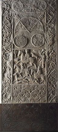 This is the Hiton of Cadboll stone, carved around 800 AD in the Pictish heartland of Northern Scotland.