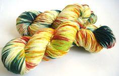 Premium high twist handgefärbt:Goldener Okotber II von lakeside-wolle auf DaWanda.com