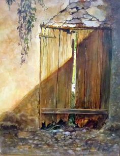 Orta's Door - Karen Vernon #watercolor jd