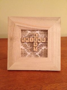 hand crafted framed BEST FRIEND miniature by Abizarrebazaar, $20.00