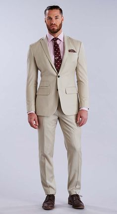 As the architect of your own design, choose from hundreds of incredible fabrics that reflect who you are. Tan Suit Wedding, Wedding Day, Fashion Suits, Mens Fashion, Suit Shop, Man Style, Custom Made, Fabrics, Suit Jacket