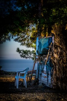 Chair by the Sea, Lesvos, Greece Go Greek, Greek Islands, Beautiful Islands, Seas, Beautiful Things, Paradise, Outdoors, Memories, Chair