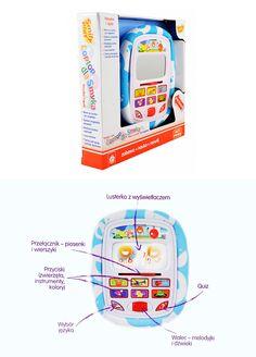 Edukacyjny tablet z miękkim, bezpiecznym nawet dla najmłodszych dzieci etui.  #zabawki_edukacyjne #supermisiopl
