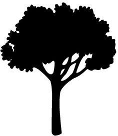 oak tree silhouette graphics a world of beauty pinterest tree rh pinterest com