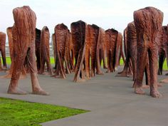 """Magdalena Abakanowicz AGORA iron 106 figures x x cm Permanent installation in Grant Park, Chicago """"Art will remain the most astonishing activity of mankind born out of struggle between wisdom and madness, between dream and reality in our mind. What Is Sculpture, Sculpture Art, Chicago Sculpture, Magdalena Abakanowicz, Chicago Art, Chicago Illinois, Grant Park, Weird World, Installation Art"""