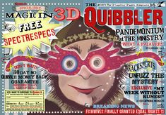 quibbler template | Grab an old magazine and tape this on top of the front and back ...