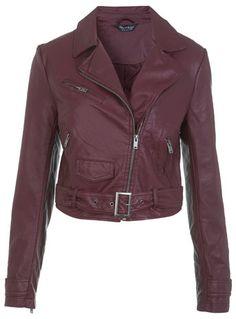 Ricky Crop Biker Jacket - Miss Selfridge price: £52.00