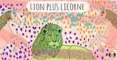 Lion plus Licorne //// Limited Digital Prints Edition //// Serie 2015 {Lion plus Licorne} ///// by Eva Mirror Illustrations
