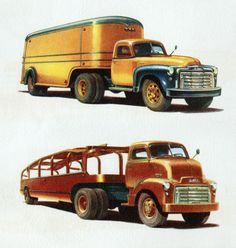 1950 GMC Conventional Van Tractor/Trailer & C.O.E. Car Hauler | Flickr - Photo Sharing!