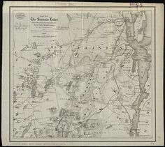 Map of the Saranac Lakes : prepared from Dr. Ely's large pocket map of the New York wilderness for D.L. Fouquet & Son
