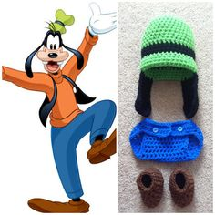Crochet Goofy Outfit by Potterfreakg on Etsy, $25.00
