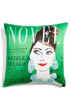 Free shipping and returns on kate spade new york 'dazzle delight' accent pillow at Nordstrom.com. Kick back and relax with your magazines atop a vibrant silk-blend throw pillow designed in the style of your favorite glossies, cheeky headlines and cover girls included.