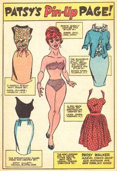comicslams:Patsy Walker Vol. 1 No. Comic Book Paper, Comic Books, Romance Comics, Paper Dolls Printable, Christmas Paper Crafts, Paisley Print Dress, Vintage Paper Dolls, Vintage Comics, Free Paper