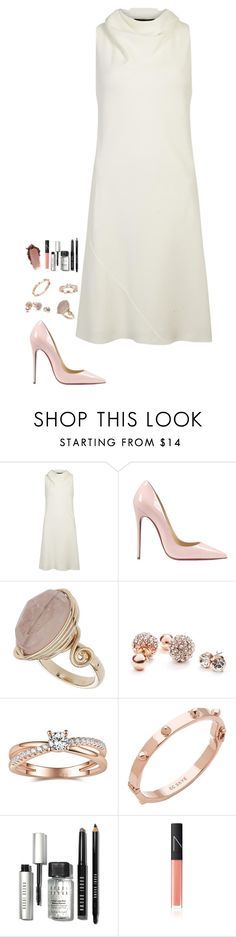 """Untitled #472"" by h1234l on Polyvore featuring The Row, Christian Louboutin, Topshop, GUESS, CC SKYE, Bobbi Brown Cosmetics, NARS Cosmetics, women's clothing, women's fashion and women"