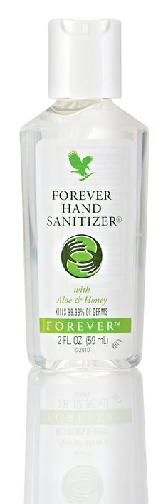 Enriched with nourishing honey and soothing #aloe, one squirt of Forever Hand Sanitizer can kill 99.9% of bacteria. http://wu.to/uI9jwv