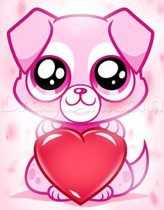 valentine draw drawing puppy valentines drawings easy animals stuff dragoart thing step dog slideshow cupid kitty compact normal sheet discover