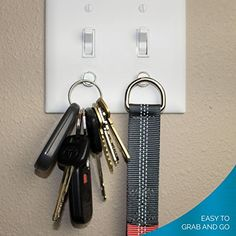 Magnetic Key Rack by Savvy Home (2 Pack)   Key Holder for... https://www.amazon.com/dp/B01IU5EKAW/ref=cm_sw_r_pi_dp_x_0KM.xbMCHS982