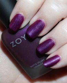 Zoya Matte Velvet Holiday Collection for Winter Beautiful Nail Art, Gorgeous Nails, Love Nails, Pretty Nails, My Nails, Purple Nails, Purple Makeup, New Nail Polish, Nail Candy