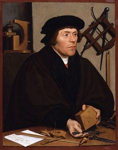 Nicholas Kratzer är astronom. Tavlan är målad av Hans Holbein den yngre.