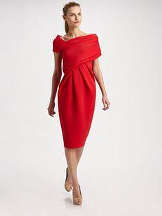 Donna Karan Asymmetrical Dress.  Donna Karan knows 'classic' with an attitude.