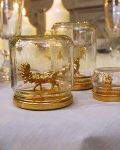 Tuto : Des bocaux de Noël dorés...