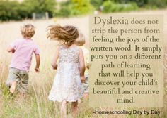 The dyslexic child