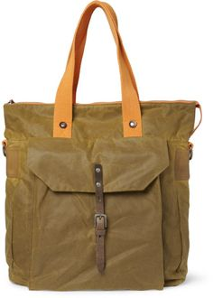 Ally capellino Timothy Waxedcotton Tote Bag in Green for Men