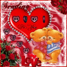 Sending Hugs for You animated hugs hello friend teddy bear comment good morning good day blessings greeting beautiful day