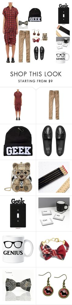 """""""Geek Status"""" by everything4love on Polyvore featuring R13, Hollister Co., FitFlop, Judith Leiber and Brooks Brothers"""