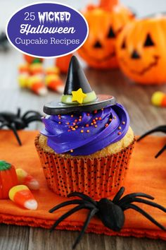 25 Wicked Halloween Cupcake Recipes - Set the scene for a spooky night with these 25 wicked Halloween cupcake recipes!