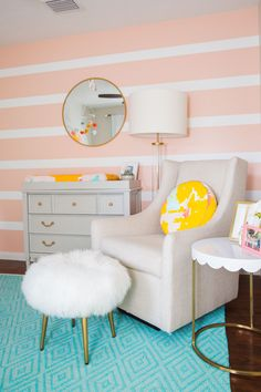 An Oh Joy Inspired Nursery. I found a brightly color Oh Joy pillow and knew immediately I'd found the inspiration for the room.