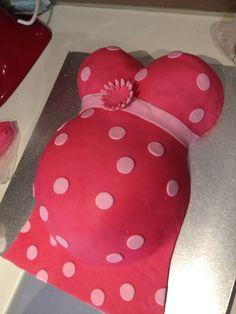 Girl baby shower cake Baby bump