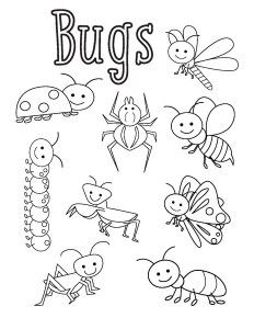 Bug Coloring Sheets Preschool