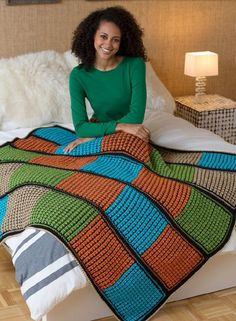 mustang Double the Fun Crochet Afghan
