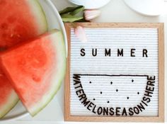 If your Fourth of July menu doesn't include watermelon, at least your letter board can. Felt Letter Board, Felt Letters, Felt Boards, Cute Quotes, Words Quotes, Easter Quotes, Easter Sayings, Licht Box