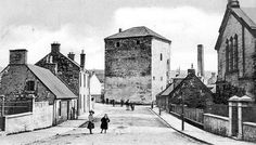 Old photograph of Barr Castle, Ayrshire, Scotland