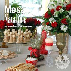 Mesa para ceia de Natal - Decoração Natalina - Christmas decor
