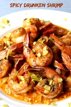 If you're looking for a comfort food dinner, this Spicy Drunken Shrimp is your answer.