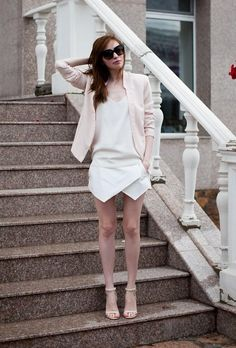 Shop this look on Kaleidoscope (skirt, blazer)  http://kalei.do/WzN5ZXv4XyAugIxJ #fashion