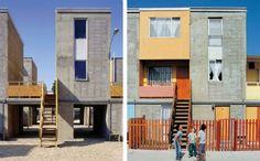 As casas de Quinta Monroy, em Iquique, no Chile, fazem de um projeto de moradia popular para abrigar 100 famílias que ilegalmente ocupavam a área até o ano de 2004